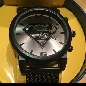 DC Comics Accessories - DC Men's Superman Logo Watch